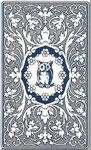 Kartenrückseite *Lenormandkarte*Blaue Eule*Kartendeck* nach Mlle Lenormand Orakelkarten