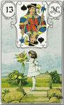 Lenormand Karte Lenormand Karte Bild Nr.13 *Das Kind*Lenormandkarten Wahrsagekarten Blaue Eule*