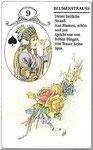 Lenormand Karte Nr.9 Kartenbild *die Blumen *vom Kartendeck Carta Mundi*