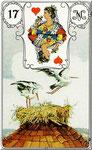 Lenormand Karte Bild Nr.17 *Die Störche*Lenormandkarten Wahrsagekarten Blaue Eule*