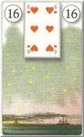 Lenormand Karte Nr.16 *Die Sterne*  Bilder zu Dondorf Kartendeck