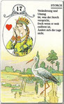 Lenormand Karte Nr.17 Kartenbild *die Störche* vom Kartendeck Carta Mundi*
