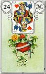 Lenormand Karte Bild Nr.24 *Das Herz*Lenormandkarten Wahrsagekarten Blaue Eule*
