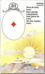 Lenormand Karte Nr.31 Kartenbild *die Sonne* vom Kartendeck Carta Mundi*