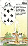 Lenormand Karte Nr.20 Kartenbild *der Park* vom Kartendeck Carta Mundi*