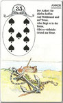 Lenormand Karte Nr.35 Kartenbild *der Anker* vom Kartendeck Carta Mundi*