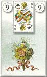 Lenormand Karte Nr.9 *Die Blumen*  Bilder zu Dondorf Kartendeck