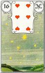 Lenormand Karte Bild Nr.16 *Die Sterne*Lenormandkarten Wahrsagekarten Blaue Eule*