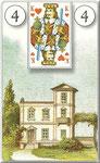 Lenormand Karte Nr.4 *Das Haus*  Bilder zu Dondorf Kartendeck