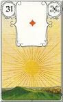 Lenormand Karte Bild Nr.31 *Die Sonne*Lenormandkarten Wahrsagekarten Blaue Eule*