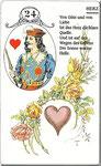 Lenormand Karte Nr.24 Kartenbild das Herz vom Kartendeck Carta Mundi*