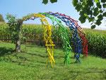Ein Regenbogen im Garten...