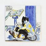No.110  猫の音楽家 15×15cm  10,500円