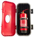 Stabile Schutzbox inkl. 2 Haltebändern für 6 kg Feuerlöscher