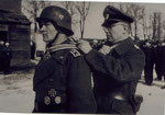Eric Bansen gets his KC from General Jordan on March 15, 1944