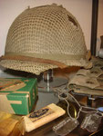 US M1 helmet with camo net