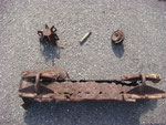 Relics - mortar fragment, P-47 Belly Tank part , ammo
