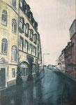2017 Goltsteinstraße 2 60x82cm 570,-€ (Bild bei mir im Atelier)