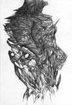 """""""Nos Peaux""""/crayon sur papier/29,7x21cm/2012."""