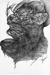 """""""Le Dernier intrus""""/crayon sur papier/29,7x21cm/2012 (collection particulière)"""