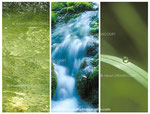 """série triptyques """"Vert d'eau"""""""
