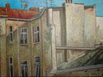 Gemälde 327. Zillestr. Hinterhof, Acryl auf Leinw. 2009,  30 x 40 cm