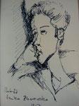 Zeichnung nach Modigliani Tusche11x17cm_ 2009