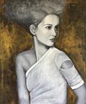 Portrait 100 x 120 cm, Acryl auf Leinwand