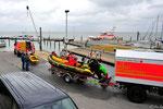 4. Juli Rettungskräfte üben im Hafen Munkmarsch
