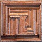 VICENTE ROJO, Salón Louise Nevelson 5, técnica mixta/madera, 43.5x43.5cm, 2011.