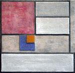 VICENTE ROJO, Salón Piet Mondrian  3, técnica mixta/madera, 34x34cm, 2011.