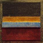 VICENTE ROJO, Salón Mark Rothko 4, técnica mixta/madera, 34x34cm, 2010.