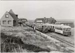 Inselbahn 1968 am Bahnhof Rantum