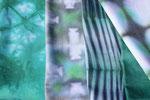 SHIBORI - Baumwollstoffe handgefärbt mit Procion MX Reaktivfarben