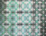 Itajime SHIBORI - Baumwollstoff handgefärbt mit Procion MX Reaktivfarben