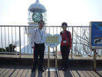 室戸岬灯台をバックにして「恋人の聖地」で家内と記念撮影。30年前が懐かしい。