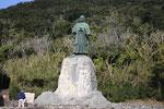中岡慎太郎の像。足摺岬にはジョン万次郎、桂浜には坂本龍馬の像が立っている。