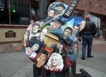 Alle bekannten Grössen der Country Music auf dem Hinweisschild zum . . .