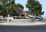 Verkehrskreisel in Port Alcudia: Unzweifelhaft ein Strand- und Touristenort