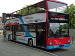 Die Stadtführungsbusse als Doppeldecker . . .
