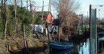 Idyllischer Seitenkanal am Waschtag