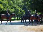 In der Hannover-City gibts noch berittene Polizei