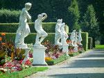 Blick auf den Statuengarten