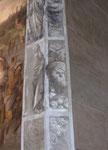 Schöne Wandmalerei in einer der unzähligen Kirchen von Lucca