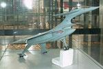 Modell für zukunftsorientiertes Flugzeug