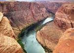 Blick in den Colorado-River im Horse Shoe Bend...
