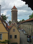 Rothenburg hat 46 Türme und widerspiegelt damit die Wehrhaftigkeit im Mittelalter