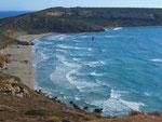 Blick auf die Ostseite der Bucht bei Tharros...