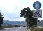 Auch kalte und schneereiche Winter gibt es auf Sardinien wie diese Tafel aussagt
