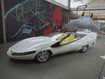 """. . . bis zum Colani-Corvette (mit Colani-Patent C-Form: """"Luftstrom unter dem Fahrzeug"""") . . ."""